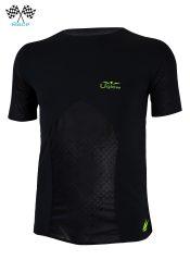 Camiseta de Hombre de manga corta Uglow Race Negro/Amarillo TS2