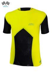 Camiseta de Hombre de manga corta Uglow Race Amarilla/Negra TS3