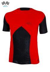 Camiseta de Hombre de manga corta Uglow Race Negro/Rojo TS4