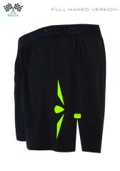 Short 5 trailrunning hombre negro/amarillo,Uglow Speed Aero®