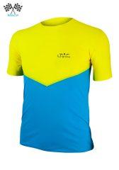 Camiseta De Manga Corta Uglow Speed Aero TSA2 Azul/Amarillo