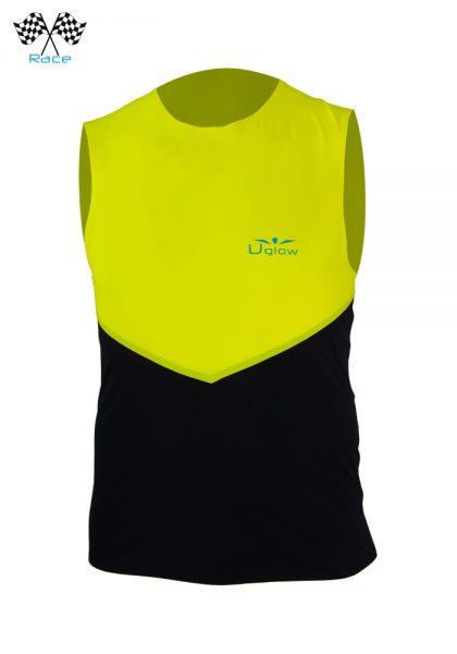 Camiseta correr sin mangas para hombre Amarillo/Negro, Uglow Speed Aero WTTSA4