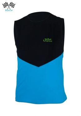 Camiseta para correr hombre sin mangas Azul/Negro Uglow Speed Aero WTTSA5