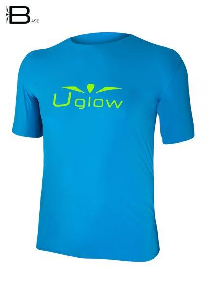 Camiseta uglow base manga corta azul
