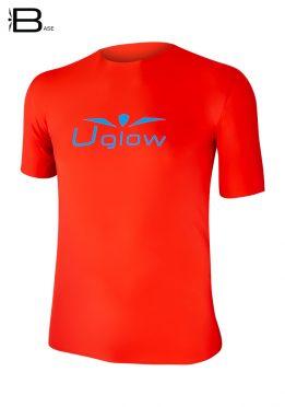Camiseta Uglow Base manga corta para hombre rojo /azul TT11