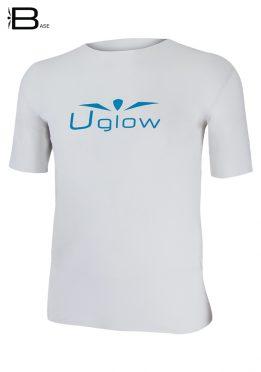 Camiseta Uglow Base manga corta hombre, Blanco/Azul TS13