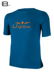 Camiseta Uglow Base manga corta hombre, Naranja/Verde Oscuro TS14
