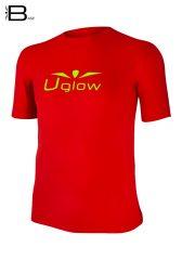 Camiseta Uglow Base de manga corta para hombre, rojo/amarillo TS16