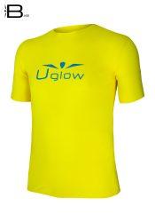 Camiseta running de manga corta para hombre, Uglow Base, amarillo/ azul TS6