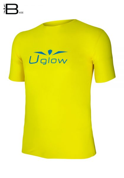 camiseta running Uglow amarilla