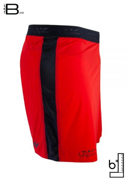 Short 6 running| trailrunning para hombre Uglow S3 Rojo/Negro