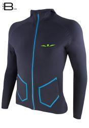 Chaqueta De Running Hombre con Capucha H1 Gris/Azul