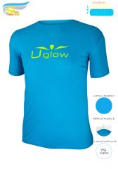 Camiseta Uglow  Super Speed Aero, 75 gramos, TS1- azul celeste/ amarillo