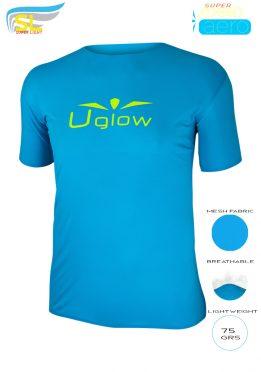 Camiseta Uglow Super Speed Aero, 75 gramos, TS1- azul celeste/ amarillo