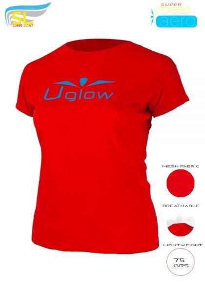 Camiseta trail running mujer, 75 gramos, UglowSuper Speed Aero