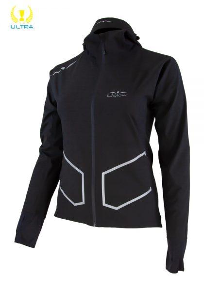 Chaqueta Impermeable mujer 20k/25K, Uglow Ultra Rain Jacket RJ3- Negro/Plata