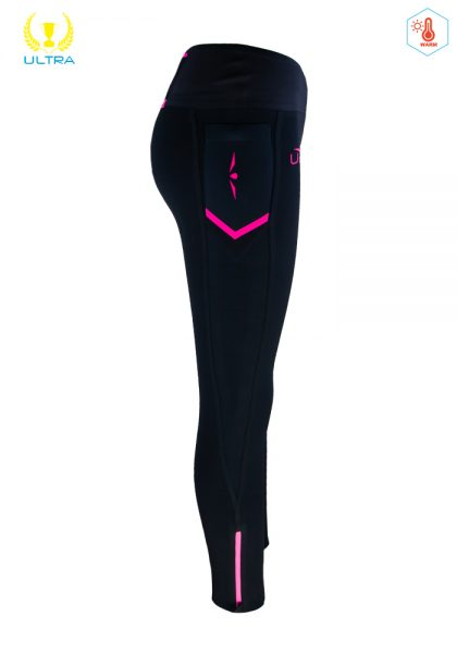 malla larga UGlow negro-rosa