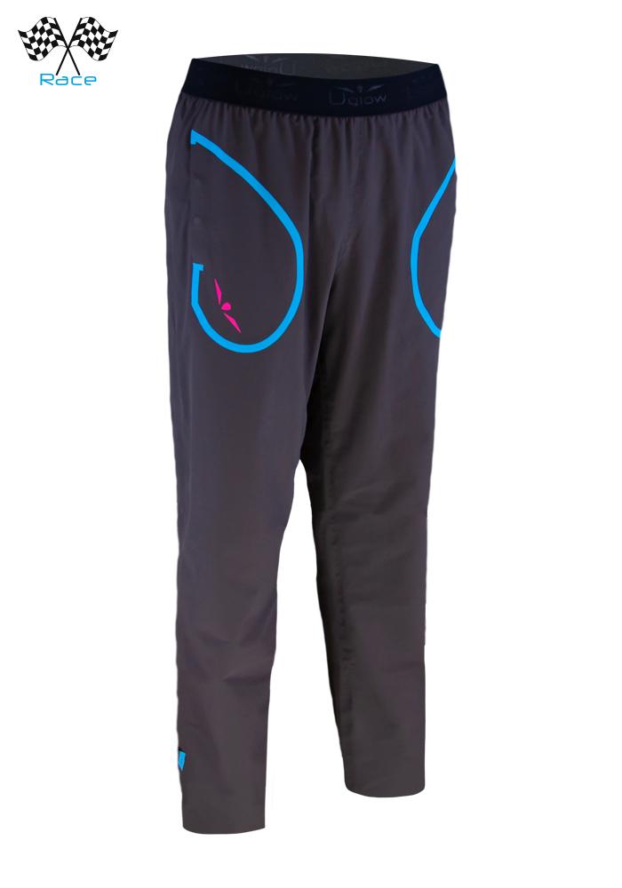 Pantalón de chandal mujer gris/ Azul