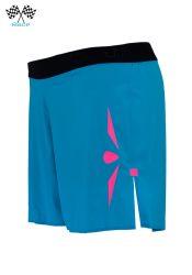 Short 5 trail running mujer Uglow Speed Aero 2en1 S1 Azul/Rosa: