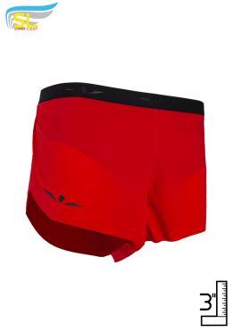 Short 3 running ligeros para hombre, Uglow SL S3 Rojo/Negro