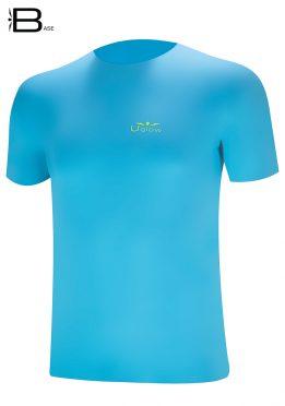 Camiseta Uglow Base manga corta para hombre Azul Retro