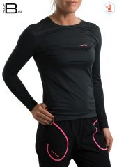 Camiseta manga Larga Mujer Uglow TLS2 Negro/Rosado