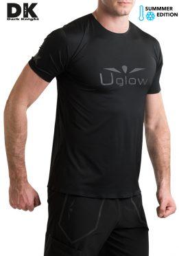 Camiseta de Hombre Uglow Manga corta Casual DK TS1 Negra/Gris