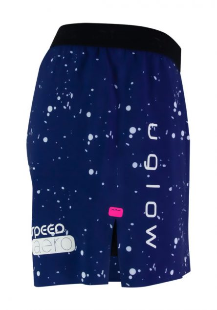 Short 5 running para hombre Uglow Speed Aero 2en1 C-1 S2, azul