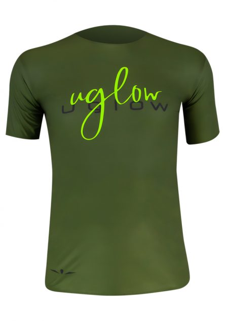camiseta hombre Uglow verde kaki, 75 gramos
