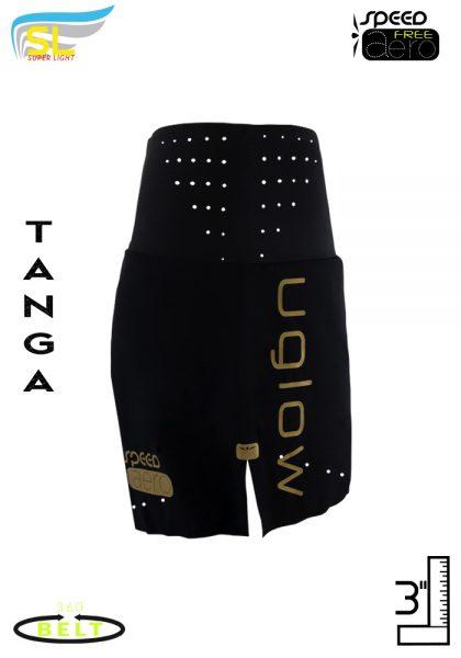 short mujer cinturon negro dorado