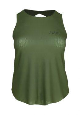 camiseta de tirantes running mujer Uglow Speed aero, kaki C2, TT1