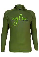 Camiseta térmica de hombre Uglow con capucha Verde/Kaki