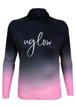Camiseta térmica de hombre Uglow con capucha Degradado/Rosa