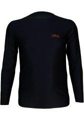 Camiseta manga Larga Hombre Uglow Negra/naranja