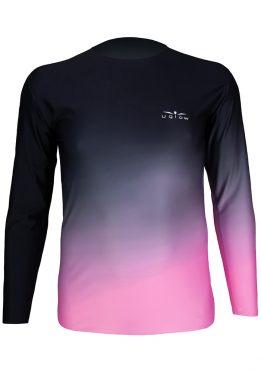 Camiseta manga Larga Hombre Uglow Degradado/marino