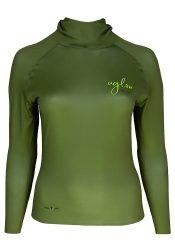 Camiseta térmica de mujer Uglow con capucha Verde/kaki
