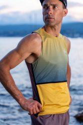 Camiseta running hombre uglow sin mangas Sulfur