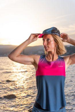 Camiseta de tirantes running para mujer uglow C2 Teal