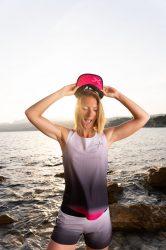 Camiseta de tirantes running para mujer uglow C2 Light grey