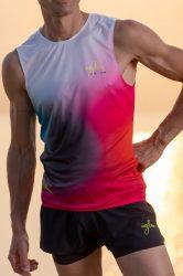 Camiseta running hombre Uglow super speed aero 85 gramos C2 5/21 Irradiant Pink