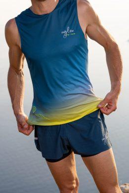 Camiseta running hombre Uglow super speed aero 85 gramos C2 1/21 TEAL